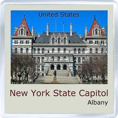 $3.29 - Acrylic Fridge Magnet: United States. Albany. New York State Capitol