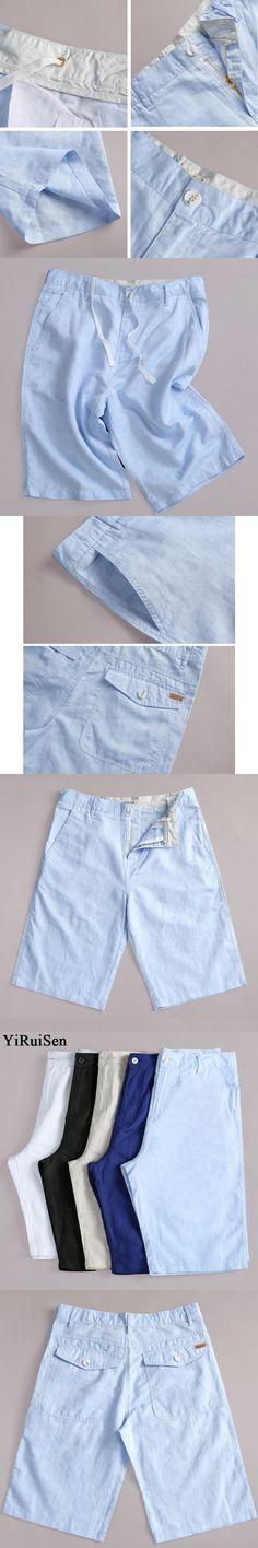 2017New Men's Cotton Linen Shorts Board Casual Shorts Men Summer Short Pants YiRuiSen Brand Clothing Bermuda Masculina #0330k
