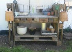 Potting bench of pallets - blomsterbord af paller