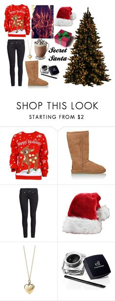 """Secret Santa"" by redheadmahomiemidnightredaustin ❤ liked on Polyvore featuring UGG Australia, H&M and Tiffany & Co."