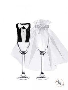 Vestiti da sposi per bicchieri. Misure: 24 cm circa. Il prezzo si riferisce alla coppia. #allestimenti #bicchieri #vestitisposi #vestitiperbicchieri #vestitidasposiperbicchieri #accessori #decori #tavoli #sedie #runner #fiocchi #wedding #weddingideas #ideasforwedding #setcalici #bicchierisposi #brindisi #brindisimatrimonio