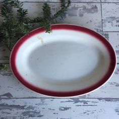 Vintage Restaurant Ware Platter - Buffalo Red by TheClassicButterfly on Etsy