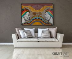 Smart Art Wallpaper Canvas Large Format Printing Interior Design African Patterns South Africa Collection Ideas Inspiration Colours Vibrant Brilliant Geometric Tribal Traditional (1)