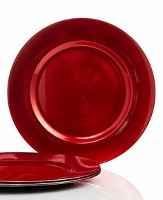 Charter Club Dinnerware, Set of 4 Red Chargers Plates - Holiday Dining - Dining & Entertaining - Macy's