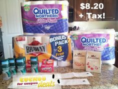 Spent $8.20 after coupons and deals on everything in this picture!  Deals go 03/16-03/22