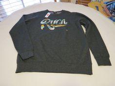 Men's RVCA surf skate brand long sleeve sweat shirt L charcoal heather NWT #RVCA #longsleeve