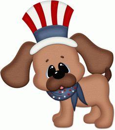 Image result for patriotic puppy free clip art