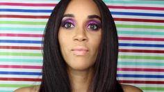 Smokey Purple & Pink Glam Makeup Tutorial