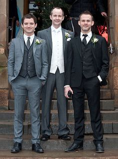 Hobbits Reunited! Elijah Wood and Dominic Monaghan attended Billy Boyd's wedding in Glascow, Scotland