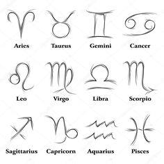Télécharger - Signes du zodiaque — Illustration #12016497