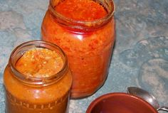 Érdekel a receptje? Kattints a képre! Preserves, Pesto, Cantaloupe, Salsa, Food And Drink, Jar, Baking, Fruit, Ethnic Recipes