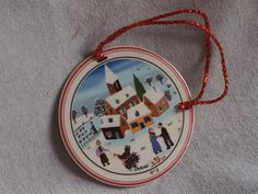 CLEARANCE 25% OFF Christmas Ornament Villeroy and Boch - Number 2 laplau collectible porcelain ornament, design naif collection