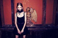 Vampiric Goth Lookbooks - The For Love & Lemons Fall 2013 Catalog Stars a Dark Anna Selezneva (GALLERY)