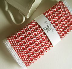Handwoven Red Cotton Dishcloth