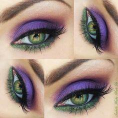 Hacer con sombras de ojos mk sheer violet y esmerald
