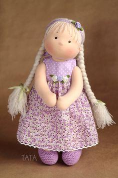Вальдорфская игрушка ручной работы. Ярмарка Мастеров - ручная работа. Купить Кукла Мариша,  по вальдорфским мотивам. Handmade. Вальдорфская кукла