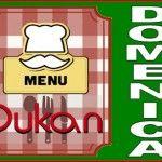 Menu della domenica per la dieta Dukan dei sette giorni
