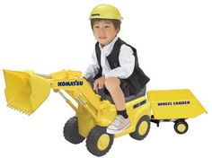 New Passenger Komatsu wheel loader with trailer Ride-on-Toy From Japan 203 #Toiko