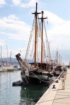 ships in port in La Spezia, Italy