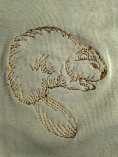 Machine embroidery beaver