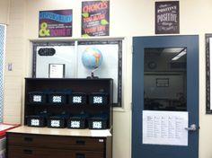 Literacy Work Stations 5th/6th Grade Combination Class Literacy Work Stations, Chalkboard Classroom, Liquor Cabinet, Storage, Furniture, Home Decor, Purse Storage, Decoration Home, Room Decor