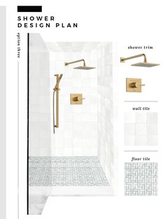 5 Classic Shower Design Plans - Room for Tuesday Diy Bathroom Decor, Bathroom Interior Design, Bathroom Ideas, Recessed Can Lights, Classic Showers, Master Shower, Master Bathroom, Shower Floor Tile, Marble Showers