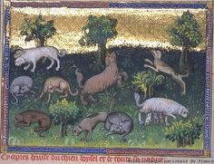 Livre de chasse (The Hunting Book) of Gaston Phoebus, 1379. Image 8
