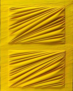 """Mariani is best known for his monochromatic complex draperies on irregular-shaped canvases. Through the topography and the bumps of his work, he explores illusions of light and shadow created within the folds of fabric. His multi-dimensional works include lead sheets laid beneath intricate drapery, whereby the fabric both serves to conceal a mysterious object beneath while also evoking its presence. __ Pictured: Umberto MARIANI, """"La forma celata"""" (2014), Vinyl & sand on lead sheet, 81 x 60.5… Lead Sheet, Multimedia Artist, Art Walk, Geometric Art, Light And Shadow, Contemporary Artists, Insta Art, Photo Galleries, Art Gallery"""