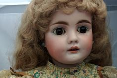 """Antique Bisque German Doll 21"""" Blonde   eBay"""
