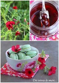 De vous à moi...: Macarons Pistache Griottes