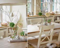 März in der Küche und Osterhasenkekse Sweet Home, Table Decorations, Interior, Monat, Easter Decor, Dining Rooms, Furniture, Home Decor, Dinner Room