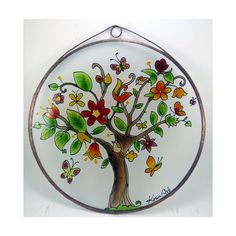 Items similar to Spring (Feder) Willkommen - Welcome, Home Sweet - Painted Glass on Etsy Decorative Plates, Sweet Home, India, Unique Jewelry, Handmade Gifts, Drawings, Tableware, Glass, Painting
