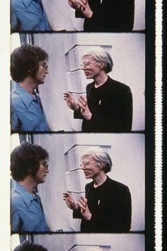 John Lennon and Andy Warhol at a party, 1971. Photographed by Deborah Colton.