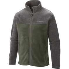 6357a45c7082 Columbia Men's Steens Mountain Full Zip Fleece Jacket, Size: Small, Green  Férfi Ruházat