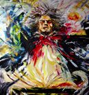 Beautiful painting of Beethoven by Eduardo Moctezuma, full of color and life, I absolutely love this painting