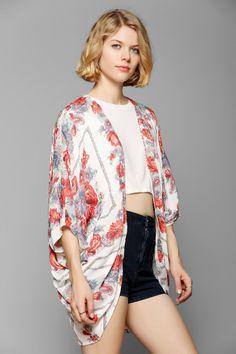 Kimchi Blue Scarf-Print Kimono Jacket