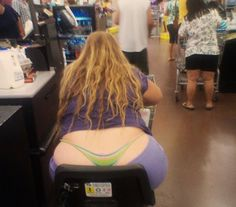 Walmart people..... That's sure asking a lot of that Thong !!!! Must be made of Steel ....