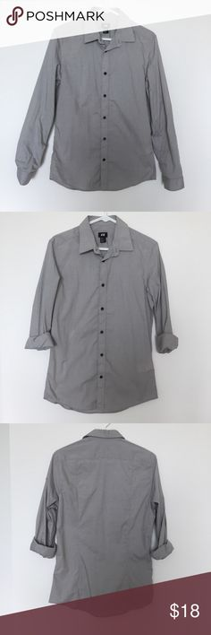 H&M button down Gray button down from H&M. Worn only once, so in like new condition. H&M Shirts Dress Shirts