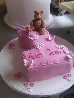 Ist birthay cake teddy