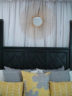 the next room i decorate, or my room in my future home, will be yellow and grey #yellow #grey #bedroom