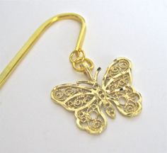 Butterfly Bookmark Handmade Repurposed Jewelry by NewToYouJewelry, $10.00