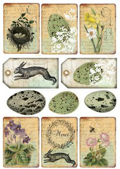 Pictures for Decoupage Decoupage, Card Sentiments, Easter Printables, Free Graphics, Vintage Tags, Printable Designs, Vintage Easter, Card Tags, Collage Sheet