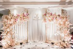 This elegant garden-inspired wedding decor proves that an indoor wedding can be just as beautiful as an outdoor affair! Wedding Ceremony Ideas, Indian Wedding Ceremony, Wedding Stage Decorations, Backdrop Decorations, Wedding Centerpieces, Wedding Prep, Wedding Planning, Dream Wedding, Wedding Backdrop Design