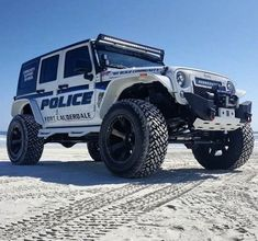 Police Jeep - Customized and Donated to the Ft Lauderdale PD Jeep Wrangler For Sale, Jeep Wrangler Unlimited, Jeep Cars, Jeep Truck, Jeep Jeep, Police Cars, Police Vehicles, Badass Jeep, Custom Jeep