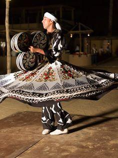 Traditional Tanoura dance in Bassata Desert Camp, Ras Al Khaimah Ras Al Khaimah, Sharjah, United Arab Emirates, Abu Dhabi, Uae, Explore, Traditional, Places, Travel