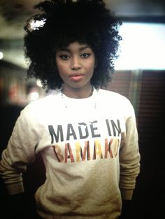 therestlesslife:  I was made in Bamako . Sweet-shirt by Fashizblack . Inna Modja