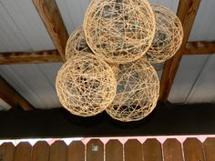 Some glue, balloons, twine and a string of white lights and we could make this really cool lantern.