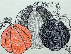 zentangle pumpkin design | Zentangled Pumpkins | Flickr - Photo Sharing!