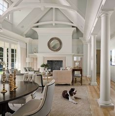 one way to do fireplace to ceiling with vault