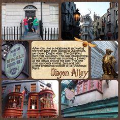 Happy Potter World Diagon Alley Universal Digital Scrapbook Page